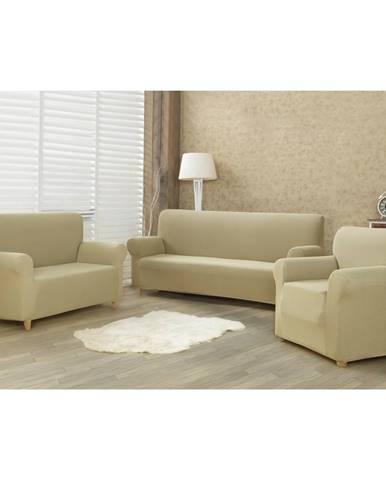 4Home Multielastický poťah na sedaciu súpravu Comfort béžová, 180 - 220 cm