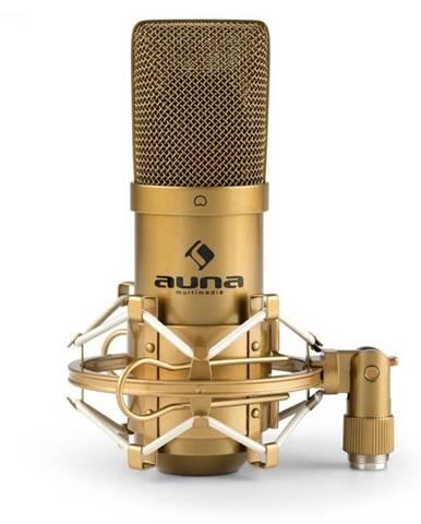 Auna Pro MIC-900G, USB kondenzátorový mikrofón, štúdiový, kardioidná ch., zlatá farba