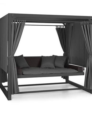 Blumfeldt Eremitage, luxusná záhradná hojdačka, 236 x 180 x 210 cm, tmavosivá/čierna