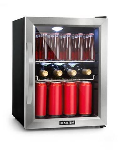 Klarstein Beersafe M, chladnička, A++, LED, 2 kovové rošty, sklenené dvere, čierna