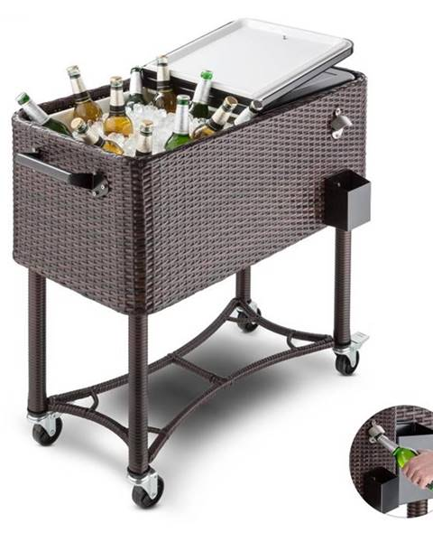 Blumfeldt Blumfeldt Springbreak 2000, vozík na nápoje, chladiaci vozík na terasy, 80 l, ratanový dizajn