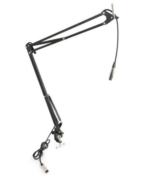 Vonyx Vonyx mikrofónové stolné rameno s XLR káblom a svorkovým držiakom čierna farba