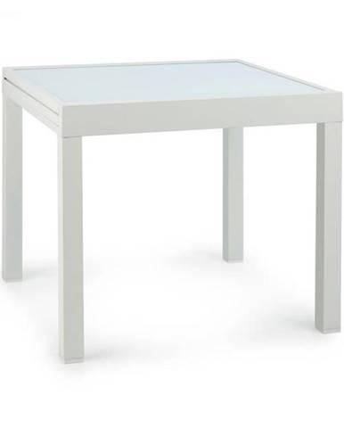 Blumfeldt Pamplona Extension, záhradný stôl, 180 x 83 cm max., hliník, sklo, biely
