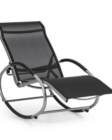 Blumfeldt Santorini, hojdacie kreslo, ležadlo, hliník, polyester, čierne