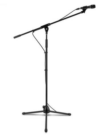 Auna KM 04, 3 x štvordielna mikrofónová sada, čierna, mikrofón, stojan, objímka, 5 m kábel
