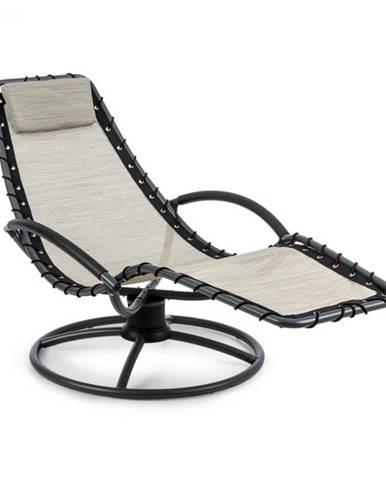 Blumfeldt The Chiller, hojdacie ležadlo, 77 x 85 x 173 cm, 360 Comfort, ComfortMesh, béžové