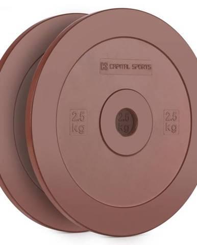 Capital Sports Methoder, červený, technický kotúč, kotúčové závažie, guma, pár, 2,5 kg