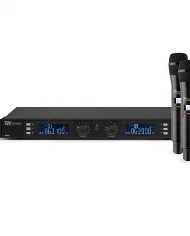 Power Dynamics PD632H 2X, 20-kanálová sada UHF bezdrôtových mikrofónov, 2 x ručný mikrofón, čierna
