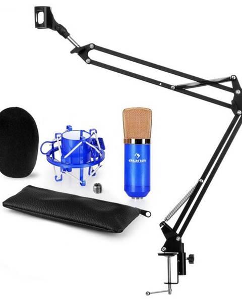 Auna Auna CM001BG V3, modrá, mikrofónová sada, XLR kondenzátorový mikrofón, rameno