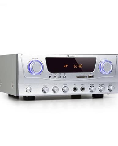 Auna Amp-2 BT, HiFi zosilňovač, RMS 2 x 50 W, BT, USB, SD, 2 x mikrofónový vstup