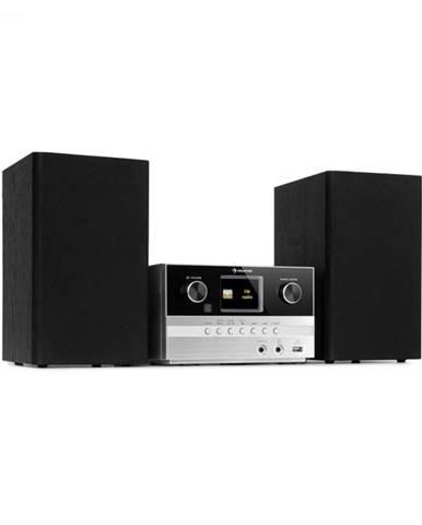Auna Connect System S, stereo systém + reproduktor, 20 W max., internet/DAB+, strieborný