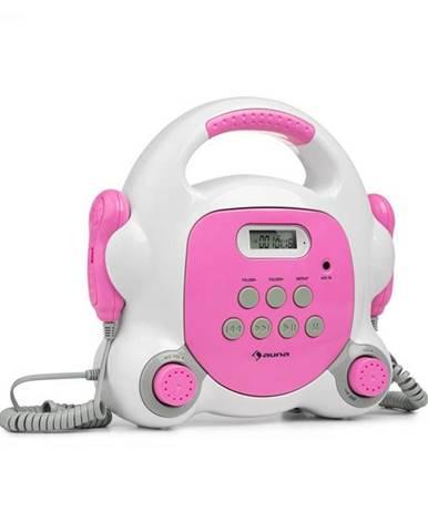 Auna Pocket Rocket BT, karaoke prehrávač, BT, USB-port, MP3, 2x mikrofón, ružový