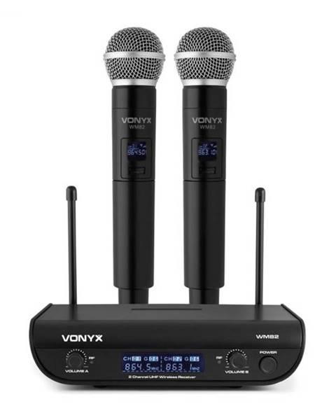 Vonyx Vonyx WM82 Digital, 2-kanálový systém UHF bezdrôtových mikrofónov, 2 x ručný mikrofón, 50 m, čierny