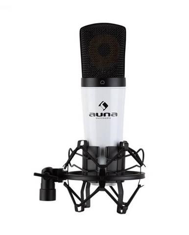 Auna Pro MIC-920 USB, kondenzátorový mikrofón, USB, slúchadlový výstup, plug & play, biely