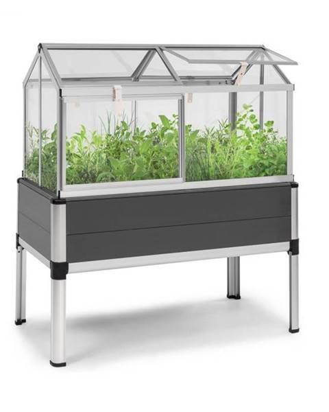 Blumfeldt Blumfeldt Novagrow Advanced, skleník, 113,5 x 129 x 60,5 cm, 166 l, UV ochrana, sivý