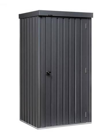 Blumfeldt Solid Storage, domček na náradie, oceľový plech, ochrana pred poveternostnými vplyvmi, zámok, antracitový