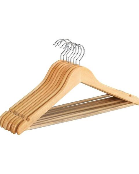 Wenko Sada 8 drevených vešiakov na oblečenie Wenko Shaped Hanger Eco