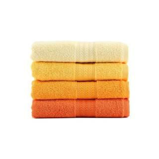 Súprava 4 uterákov Rainbow Daisy, 50×90cm