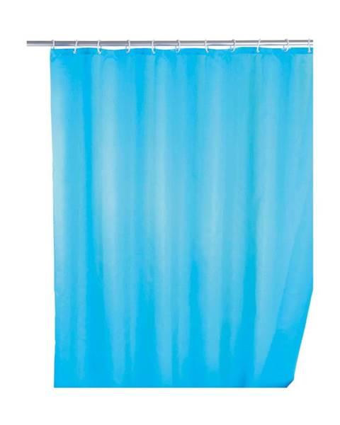 Wenko Svetlomodrý sprchový záves s protiplesňovou povrchovou úpravou Wenko, 180×200 cm