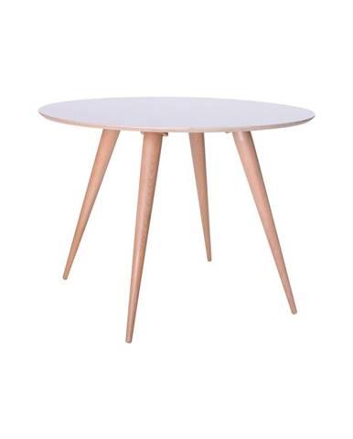 Biely jedálenský stôl Ragaba Planet Round