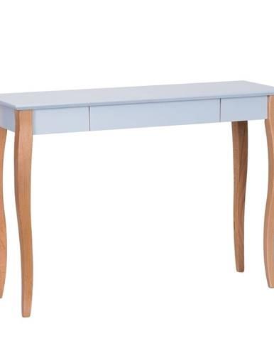 Svetlosivý písací stôl Ragaba Lillo,dĺžka105cm