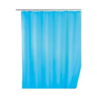 Svetlomodrý sprchový záves s protiplesňovou povrchovou úpravou Wenko, 180×200 cm