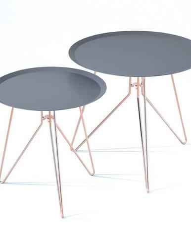 Súprava 2 modrých odkladacích stolíkov Tomasucci Jolli