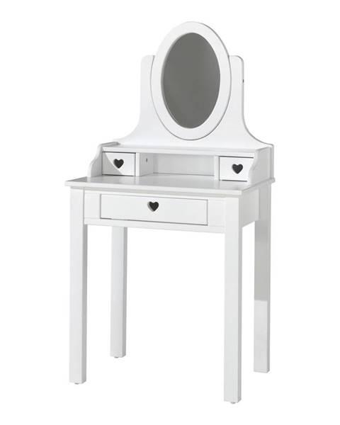 Vipack Biely toaletný stolík Vipack Amori, výška 136 cm