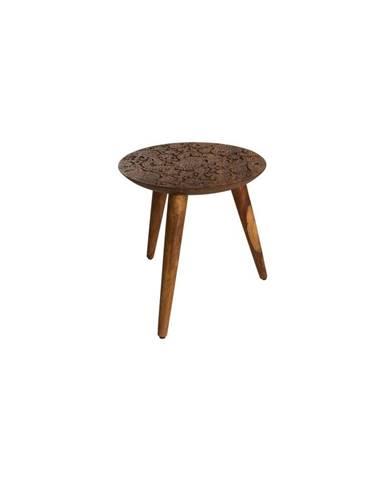 Odkladací stolík z dreva palisandra sheesham Dutchbone, ⌀ 35 cm