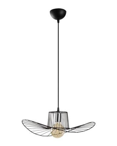 Čierne závesné svietidlo Opviq lights Tel Hat, ø 50 cm