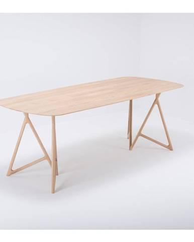 Jedálenský stôl z masívneho dubového dreva Gazzda Koza, 220×90cm
