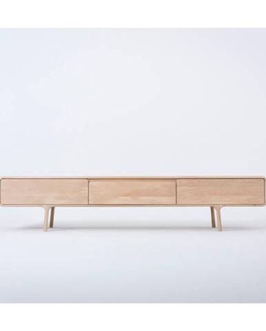 TV komoda z masívneho dubového dreva s 3 zásuvkami Gazzda Fawn