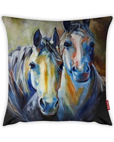 Obliečka na vankúš Vitaus Horses Art, 43×43 cm
