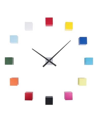 Farebné nástenné hodiny Karlsson Do It Yourself