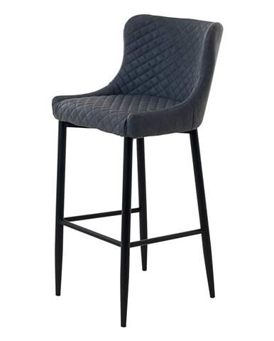 Sivá čalúnená barová stolička Unique Furniture Ottowa