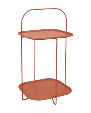 Ílovohnedý odkladací stolík Leitmotiv Trays