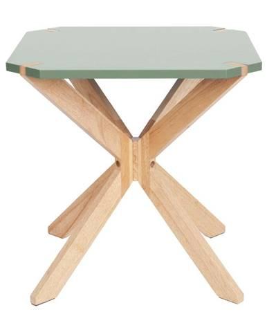 Mätovozelený príručný stolík Leitmotiv Mister, 45 x 45 cm