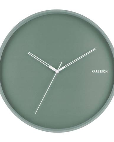 Mätovozelené nástenné hodiny Karlsson Hue, ø 40 cm