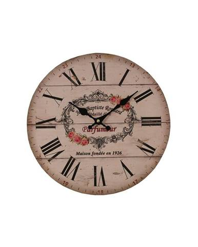 Ružové hodiny Antic Line Parfumer, ⌀ 34 cm