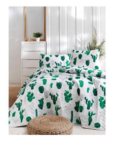 Set bavlnenej prikrývky cez posteľ a 2 obliečok na vankúše Masso Parento, 200×220 cm