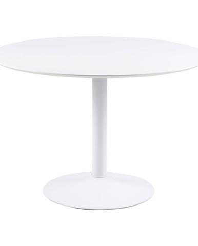 Biely guľatý jedálenský stôl Actona Ibiza, ⌀ 110 cm