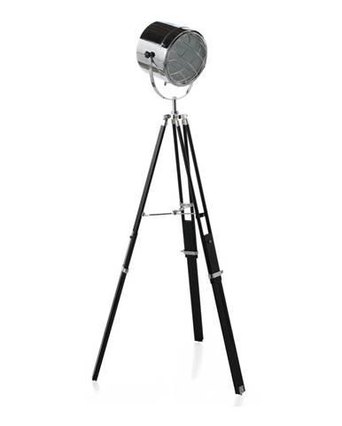 Čierna stojacia lampa Geese Chrome