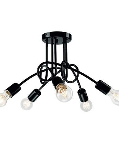 Čierne závesné svietidlo pre 5 žiaroviek Lamkur Camilla