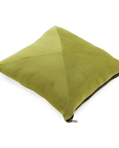 Limetkovozelený vankúš Geeso Soft, 45×45 cm