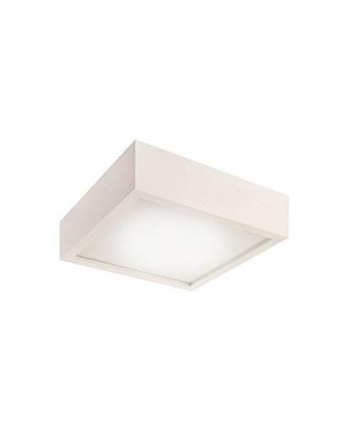 Biele štvorcové stropné svietidlo Lamkur Plafond, 27,5 x 27,5 cm