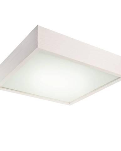 Biele štvorcové stropné svietidlo Lamkur Plafond, 37,5 x 37,5 cm