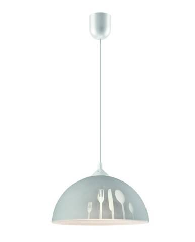 Sivé závesné svietidlo Lamkur Forks