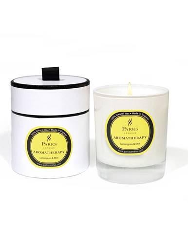 Sviečka s vôňou citrónovej trávy a mäty Parks Candles London Aromatherapy, 45hodín horenia