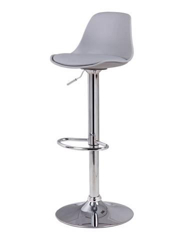 Sivá barová stolička sømcasa Nelly, výška 104 cm