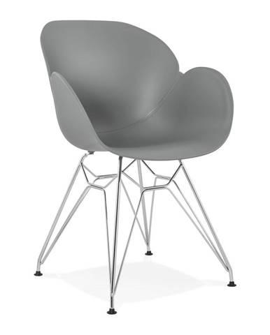 Sivá jedálenská stolička Kokoon Chipie